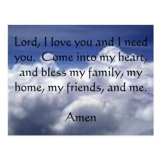 Seven Second Prayer Postcard
