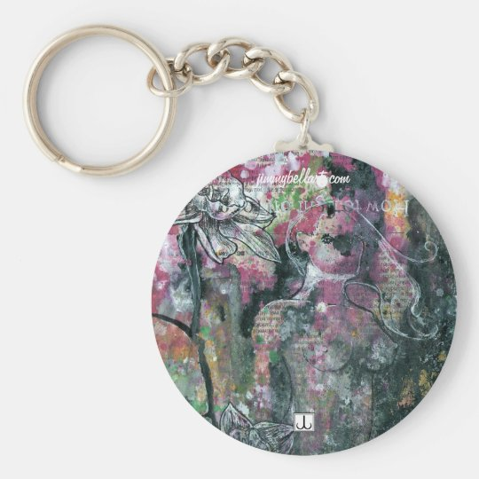 Seven Sins Basic Round Button Key Ring