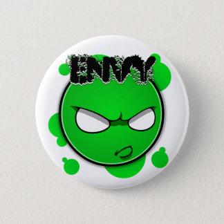 Seven Sins Faces - Envy 6 Cm Round Badge