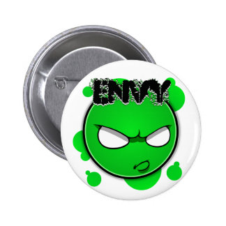 Seven Sins Faces - Envy 6 Cm Round Badge