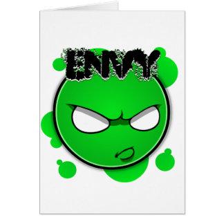Seven Sins Faces - Envy Card