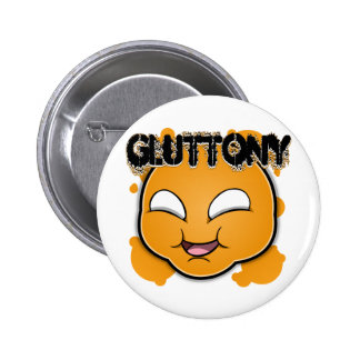 Seven Sins Faces - Gluttony 6 Cm Round Badge