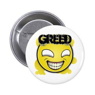Seven Sins Faces - Greed 6 Cm Round Badge