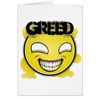 Seven Sins Faces - Greed Card