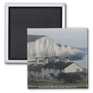 Seven Sisters Cliffs, East Sussex, England, U.K. Magnet