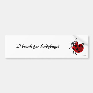 Seven-Spotted Ladybug Bumper Stickers