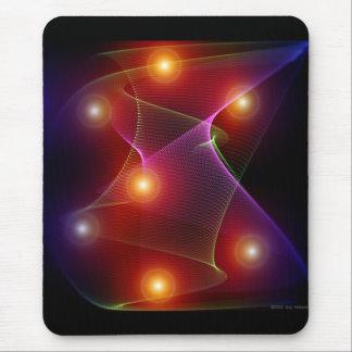 Seven Suns Abstract Digital Art Mousepad