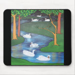 Seven Swans A-Swimming Mousepads