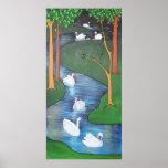Seven Swans A-Swimming Print