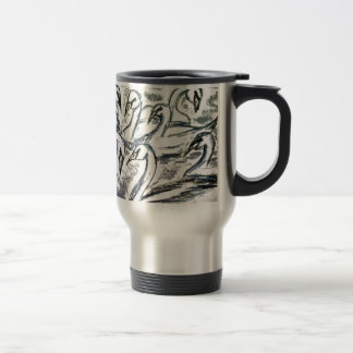 Seven Swans A Swimming Stainless Steel Travel Mug