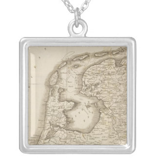 Seven United Provinces 3 Silver Plated Necklace