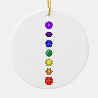 Seven vertical chakras christmas ornament