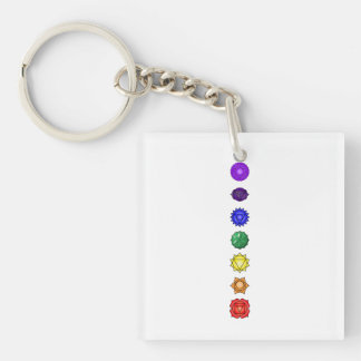 Seven vertical chakras key ring