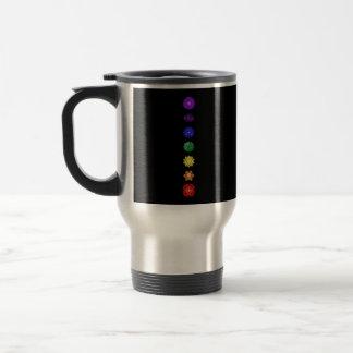 Seven vertical chakras travel mug