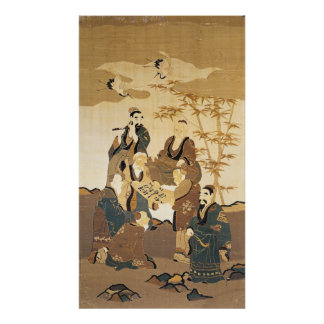 Seven wise men in the bamboo forest posters