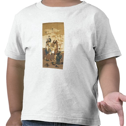 Seven wise men in the bamboo forest tee shirt