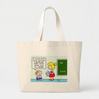 seven years body cells replace themselves school jumbo tote bag