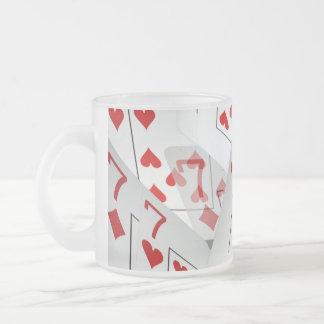 Sevens, Poker Cards, Frosted Beer Mug