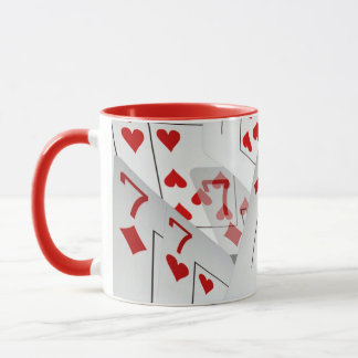 Sevens, Poker Cards, Red Combo Coffee Mugs