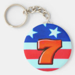 Sevens Red White and Blue Key Chain