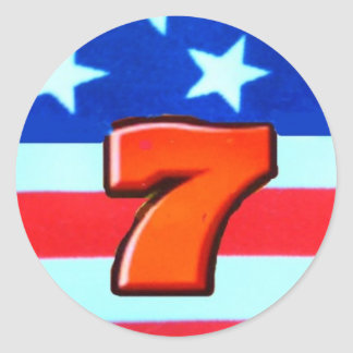 Sevens RWB 3 - 12x2 Classic Round Sticker