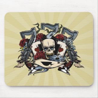 Sevens Skull Guns Roses Ace Of Spades Gambling Mouse Pad