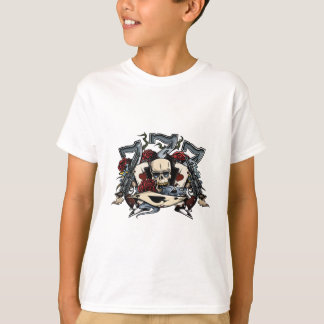 Sevens Skull Guns Roses Ace Of Spades Gambling T-shirt