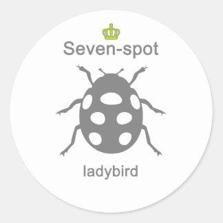 Sevenspot ladybird g5 round sticker