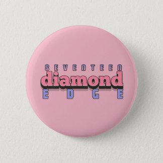 SEVENTEEN DIAMOND EDGE 6 CM ROUND BADGE