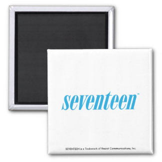 Seventeen Logo-Aqua Square Magnet