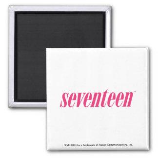 Seventeen Logo-Magenta Refrigerator Magnet
