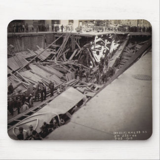 Seventh Avenue Street Collapse New York City 1915 Mouse Pad