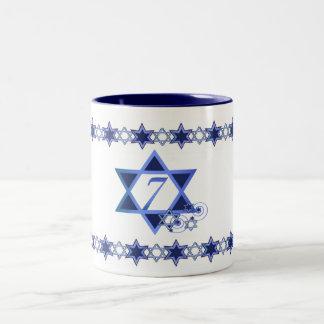 Seventh Day of Hanukkah Mug