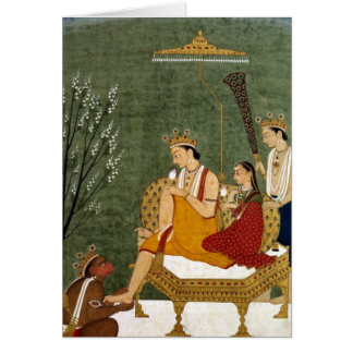 Seventh Incarnation of Vishnu as Rama-Chandra Greeting Card