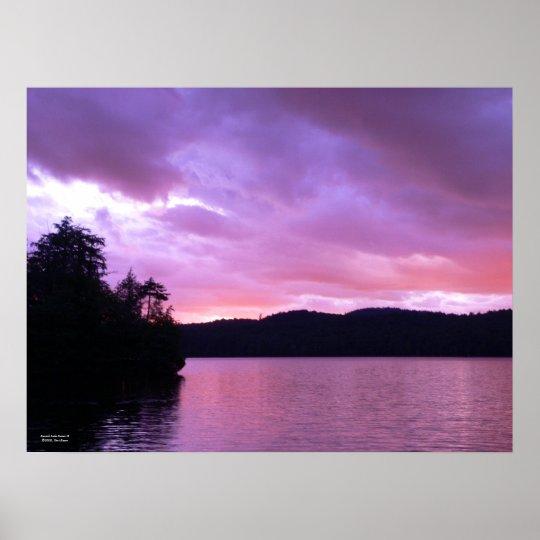 Seventh Lake Sunset II Poster