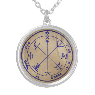 Seventh Pentacle of Jupiter Silver Plated Necklace
