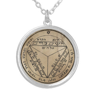 Seventh Pentacle of Saturn Silver Plated Necklace