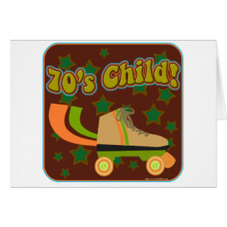 Seventies Child Greeting Card