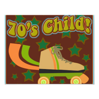 Seventies Child Personalized Invitation Cards