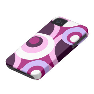 Seventies disco stylish circle design Case-Mate iPhone 4 case