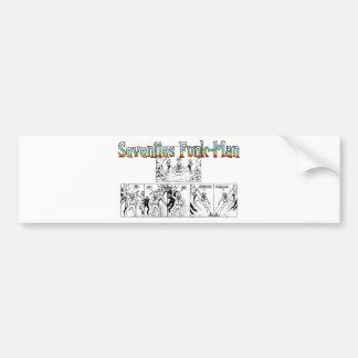 Seventies Funk-Man Bumper Sticker
