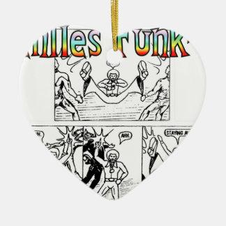 Seventies Funk-Man Ceramic Heart Decoration