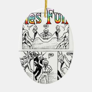 Seventies Funk-Man Christmas Ornament