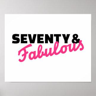 Seventy & fabulous birthday poster