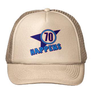 Seventy Happens 70th Birthday Gifts Cap