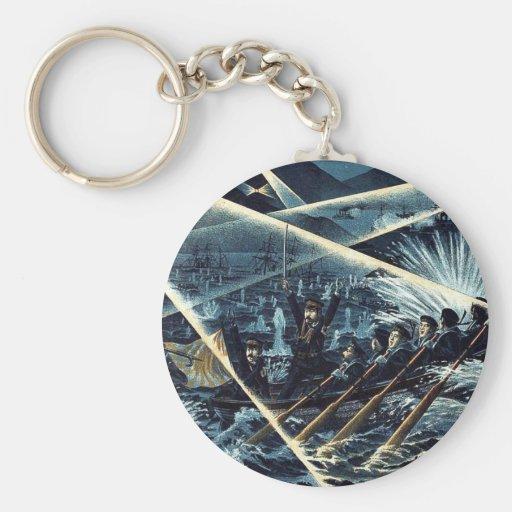 Seventy seven brave soldiers by Kuroki,Hannosuke Key Chain