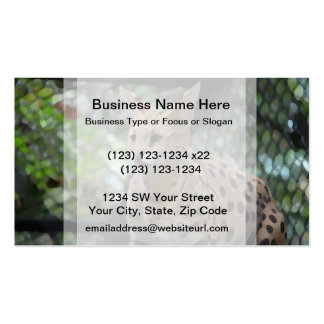 several cat face view painting style feline business card