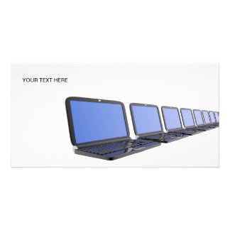 Several PC laptops aligned Photo Card Template