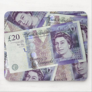 Several Pound Bills New British0 Pounds Money Mouse Pad