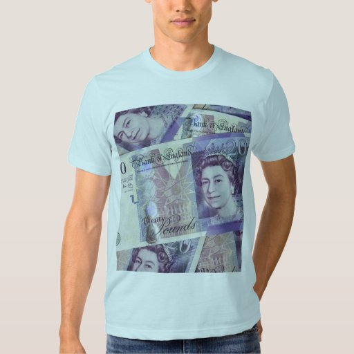 Several Pound Bills New British0 Pounds Money T Shirts